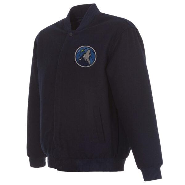 Navy Blue NBA Minnesota Timberwolves Wool Jacket