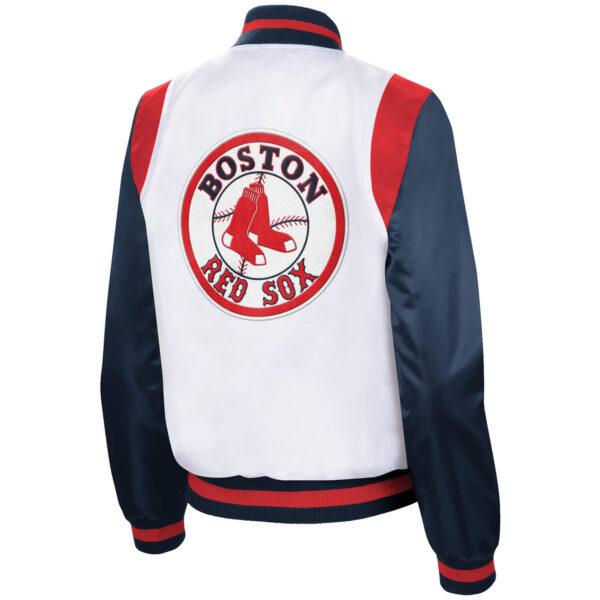 Navy Blue Vintage MLB Boston Red Sox Satin Jacket
