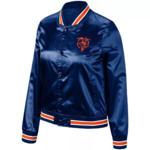 Navy Chicago Bears Lightweight Full Snap Jacket