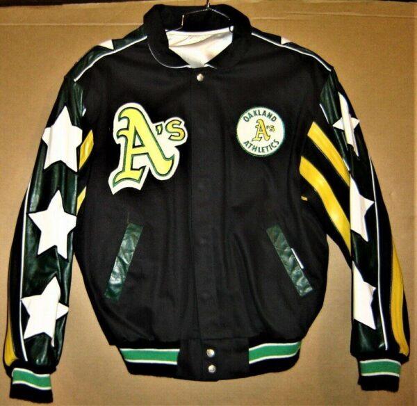 Oakland Athletics Jeff Hamilton Wool Reversible Jacket