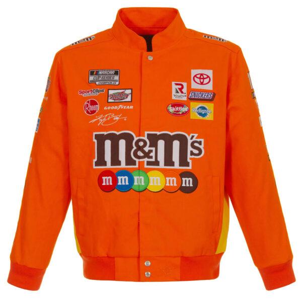 Orange Kyle Busch NASCAR M&Ms Cotton Jacket