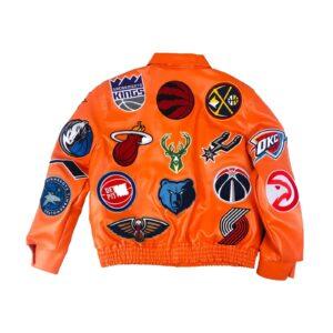 Orange NBA Teams Jeff Hamilton Leather Jacket