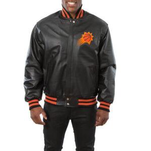 Phoenix Suns Black Domestic Team Color Leather Jacket