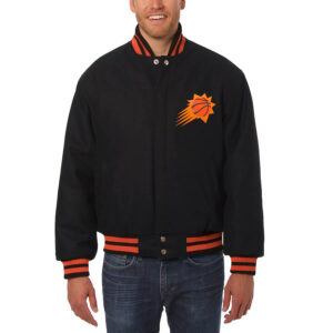 Phoenix Suns Black Wool Jeff Hamilton Jacket