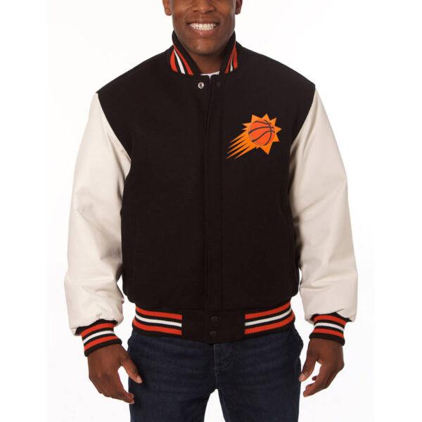 Phoenix Suns Domestic Two Tone Black Varsity Jacket