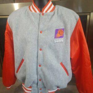 Phoenix Suns NBA Grey Orange Snap Jacket