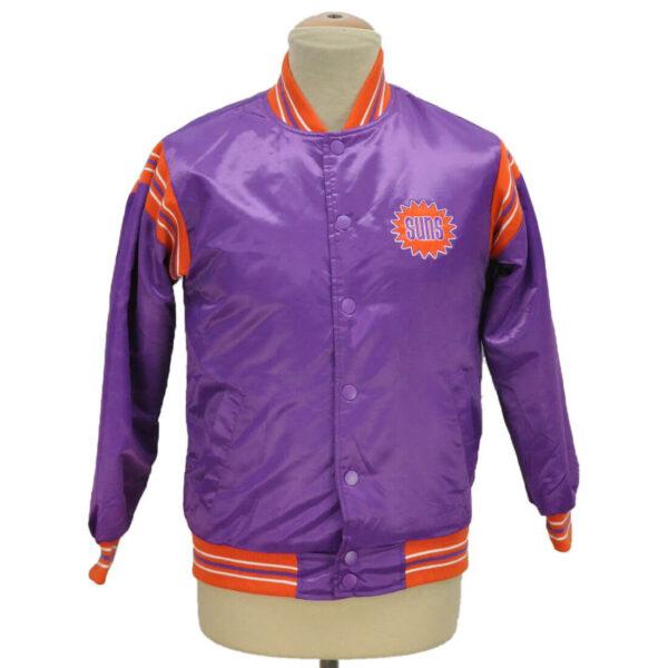 Phoenix Suns Purple Snap Button Satin Jacket