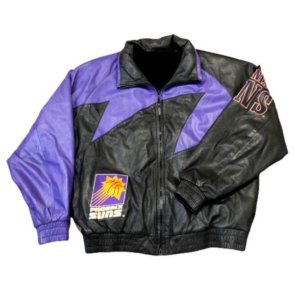 Phoenix Suns Shark Tooth NBA Leather Jacket