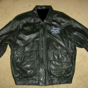 Pro Player Black Detroit Lions Leather Jacket