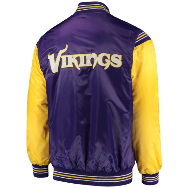 Purple NFL Jeff Hamilton Minnesota Vikings Satin Jacket