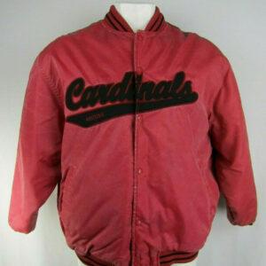 Red Arizona Cardinals Satin Full Snap Jacket