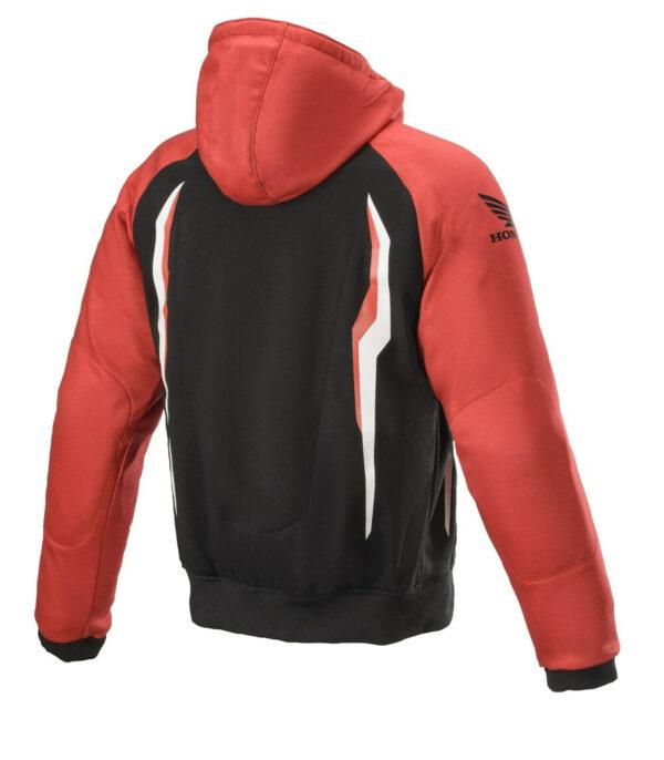 Red Black Honda Motorcycle Hooded Jacket