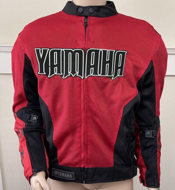 Red Black Yamaha Motorcycle Racing Textile Jacket