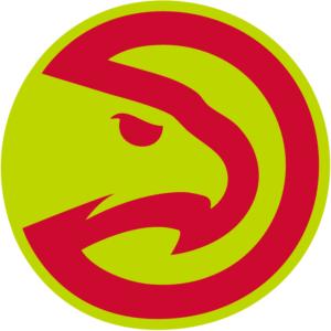 Red Green Atlanta Hawks NBA Primary Team Logo Patch