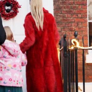 Red Ted Lasso Juno Temple Fur Coat
