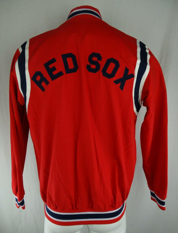 Red Vintage MLB Boston Red Sox Cotton Jacket
