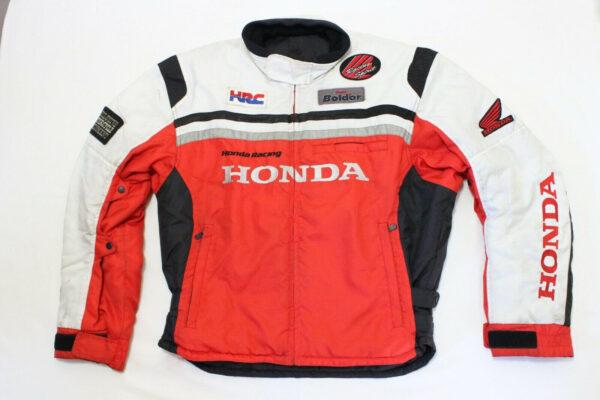 Red White Honda Motorcycle Racing Textile Jacket