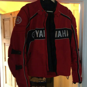 Red Yamaha Motorcycle Racing Textile Jacket