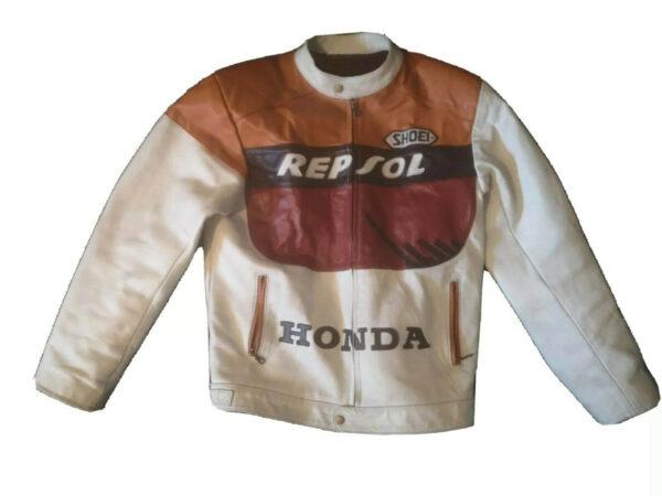 Repsol Honda Motorcycle Leather Jacket