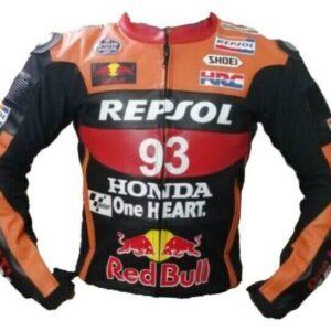 Repsol Honda Motorcycle Racing Leather Jacket