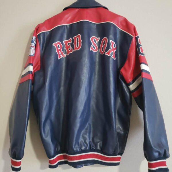 Royal Blue MLB Boston Red Sox Leather Jacket