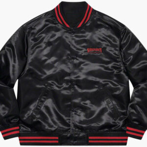 Supreme Thrasher Satin Varsity Jacket