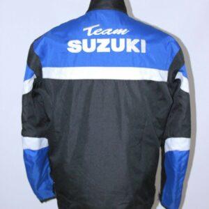 Suzuki Team Motorcycle Black And Blue Textile Jacket