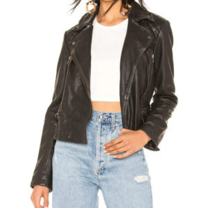 Ted Lasso Flo Collins Black Leather Jacket
