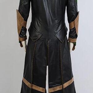 Tom Hiddleston Loki Black Leather Coat