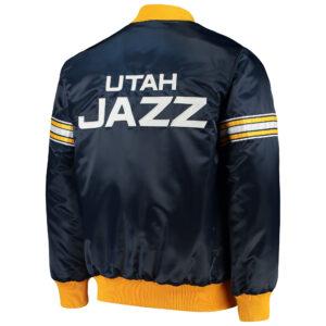 Utah Jazz The Draft Pick Varsity Satin Full Snap Jacket