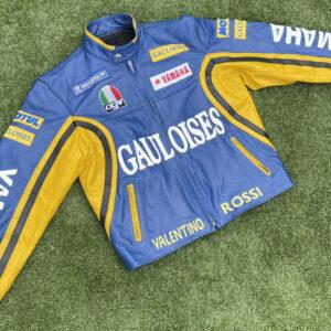 Valentino Rossi Yamaha Motorcycle Racing Leather Jacket