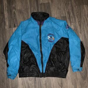Vintage 90s NBA Charlotte Hornets Leather Jacket