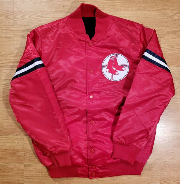 Vintage Boston Red Sox Throwback Retro Satin Jacket