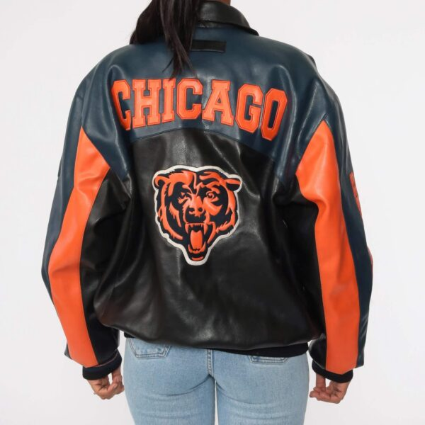 Vintage Chicago Bears Football NFL Leather Jacket