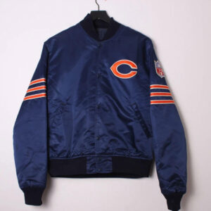 Vintage Chicago Bears Navy Satin Jacket