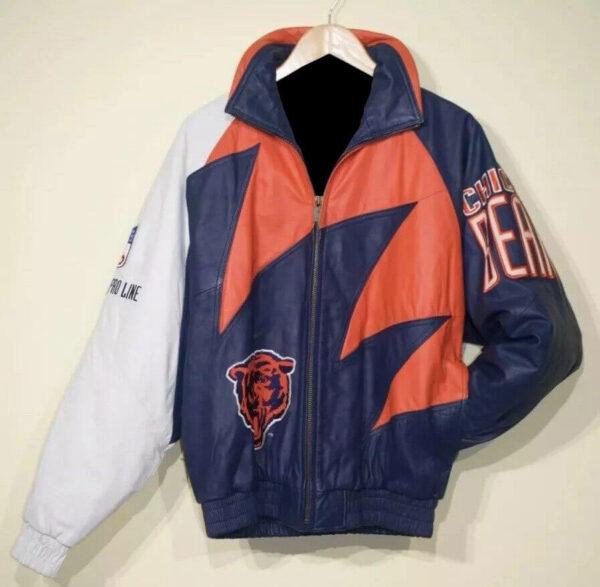 Vintage Chicago Bears Shark tooth NFL Leather Jacket
