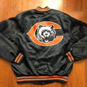 Vintage Chicago Bears Snap Satin Jacket