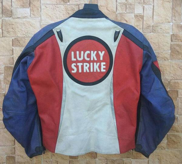 Vintage Honda Lucky Strike Motorcycle Leather Jacket