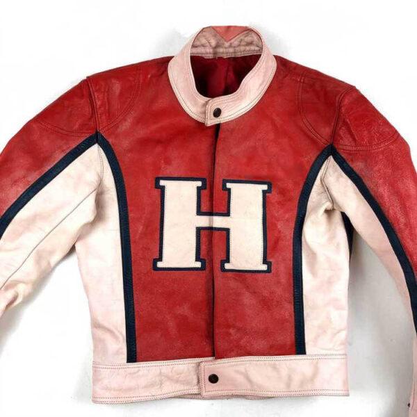 Vintage Honda Santorius Motorcycle Leather Jacket