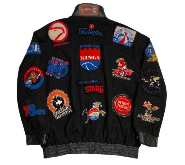 Vintage Jeff Hamilton NBA Team Patches Wool Jacket