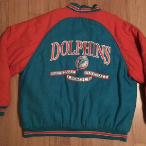 Vintage Logo Athletic Miami Dolphins Wool Varsity Jacket