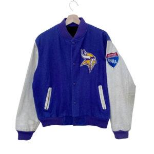Vintage Minnesota Vikings Jeff Hamilton Varsity Jacket