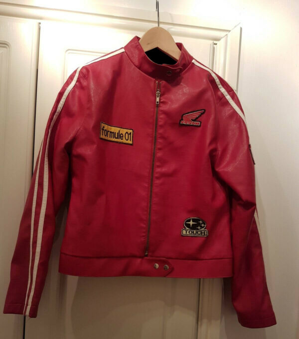Vintage Motorcycle Racing Leather Jacket
