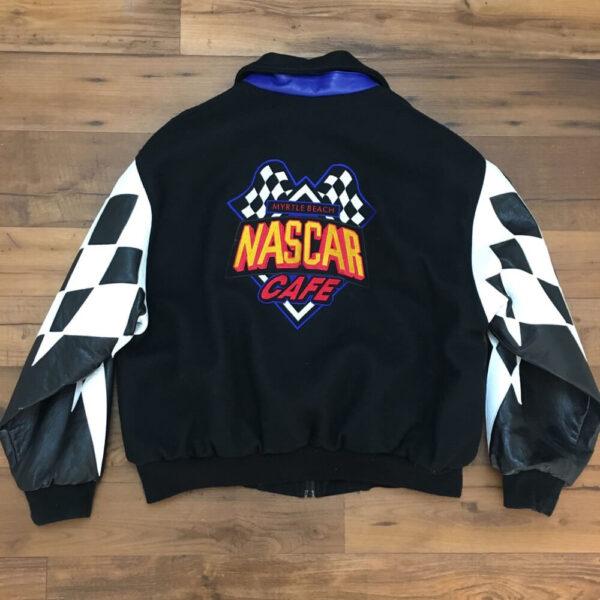 Vintage NASCAR Cafe Varsity Letterman Jacket
