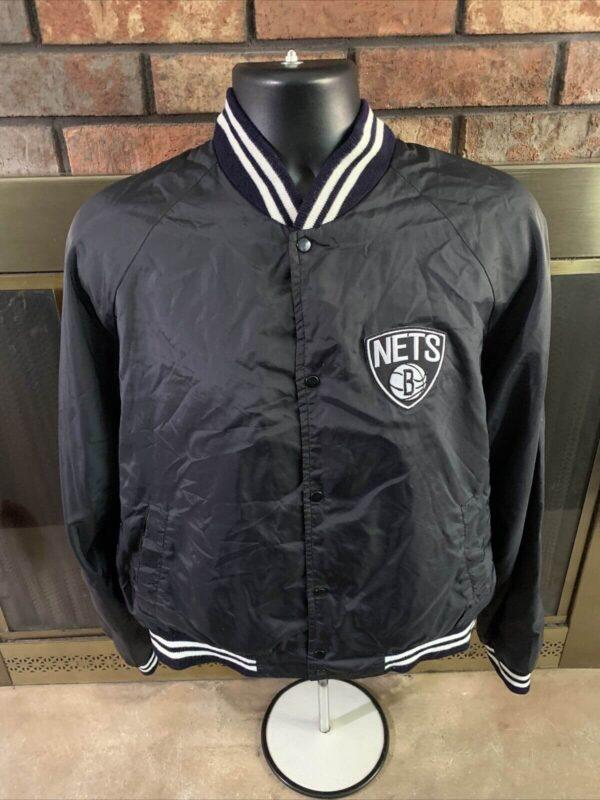 Vintage NBA Brooklyn Nets Basketball Satin Snap Jacket