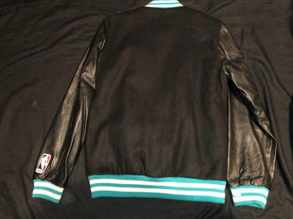Vintage NBA Charlotte Hornets Wool Leather Jacket