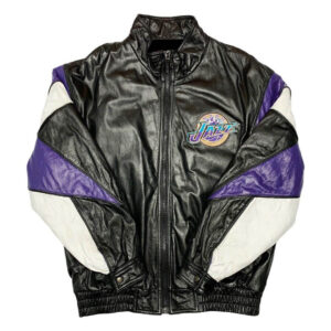 Vintage NBA Utah Jazz Pro Player Wilsons Leather Jacket