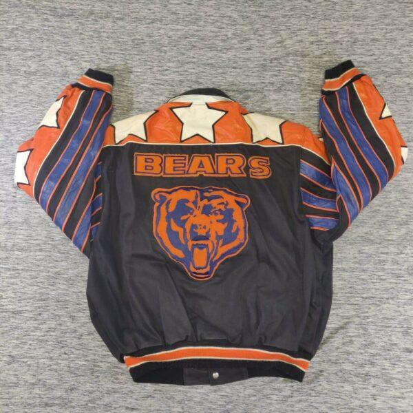 Vintage NFL Chicago Bears Jeff Hamilton Leather Jacket