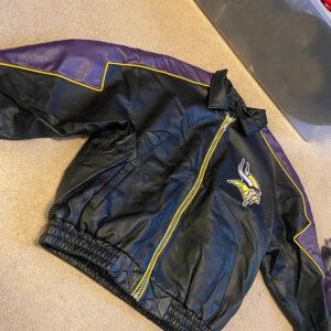 Vintage NFL Minnesota Vikings Leather Jacket