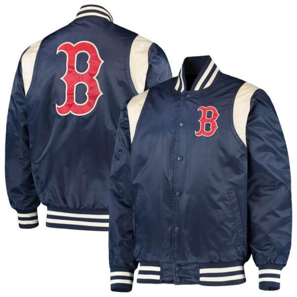 Vintage Navy Blue MLB Boston Red Sox Satin Jacket